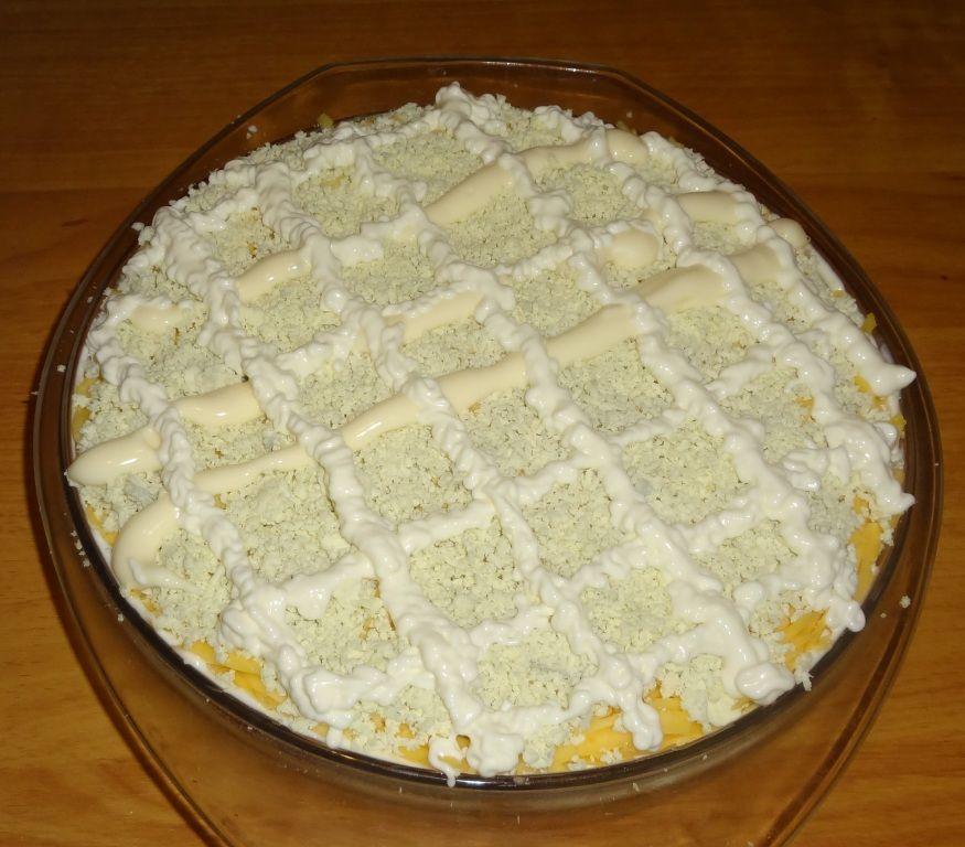 рецепты салатов не слоями с фото простые
