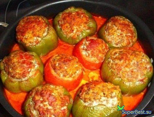 Фаршированные перцы пошаговый рецепт самые вкусные
