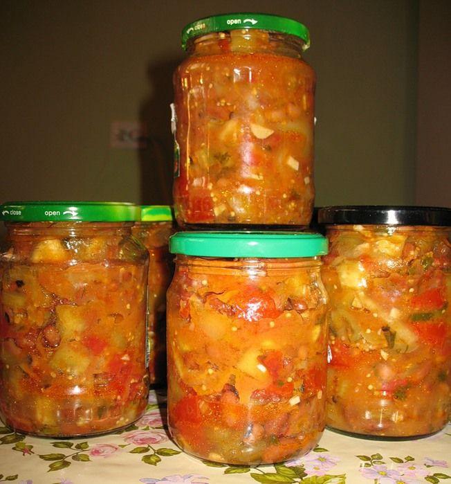 Рецепты салатов на зиму с кабачками и баклажанами