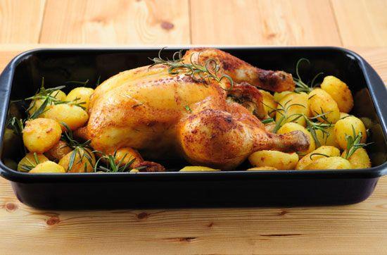Курица с картошкой и