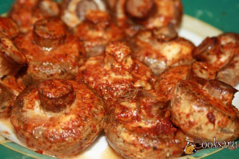 Грибы запеченные в духовке с мясом рецепт