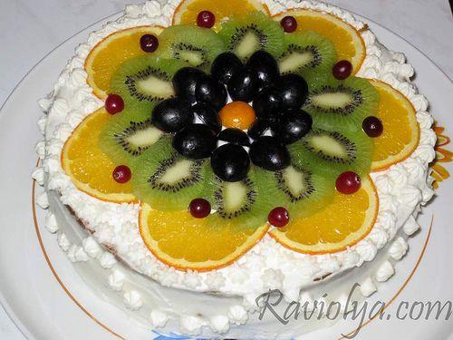 Украшения из фруктов для торта своими руками