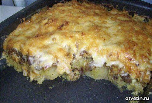 Курица с грибами в духовке с картошкой в фольге рецепт с