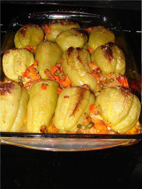 Начиненный перец в духовке рецепт