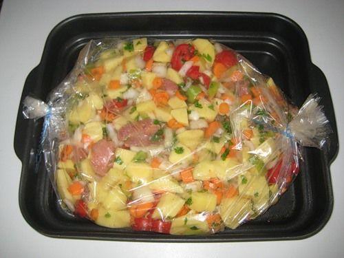 Запекание картошки в рукаве в духовке рецепты