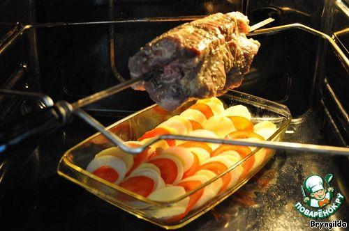 Как сделать курицу гриль в духовке на вертеле рецепт фото