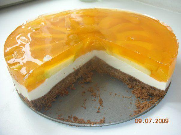 рецепт йогуртового торта с фруктами и желе