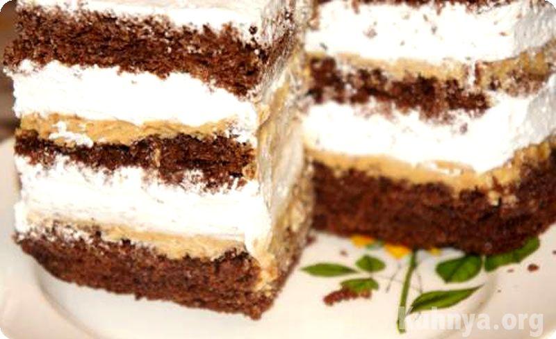 бисквитный со сгущенкой рецепт фото